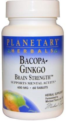 Planetary Herbals, Bacopa-Ginkgo, 600 mg, 60 Tablets ,الجمال، مكافحة الشيخوخة، باكوبا (براهمي)