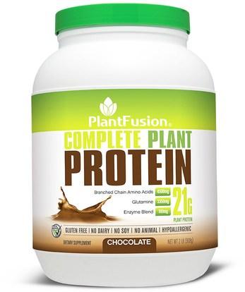 PlantFusion, Complete Plant Protein, Chocolate, 2 lb (908 g) ,والمكملات الغذائية، والبروتين