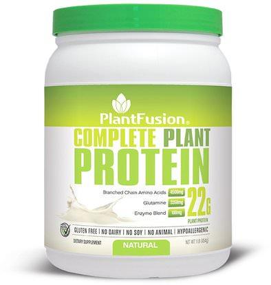 PlantFusion, Complete Plant Protein, Natural, 1 lb (454 g) ,والمكملات الغذائية، والبروتين
