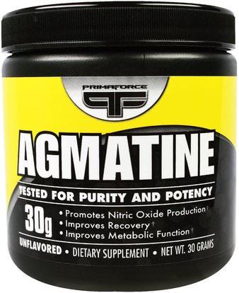 Primaforce, Agmatine, Unflavored, 30 g ,والرياضة، والرياضة، وأكسيد النيتريك