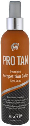 Pro Tan USA, Overnight Competition Color Base Coat, with Applicator, 8.5 fl oz (250 ml) ,حمام، الجمال، دباغة النفس غسول