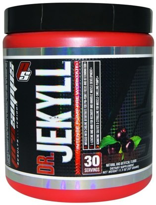 ProSupps, Dr. Jekyll, Intense Pump Pre Workout, Berry Blast, 11.5 oz (327 g) ,والرياضة، تجريب