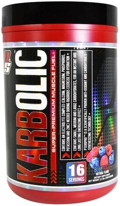 ProSupps, Karbolic, Super-Premium Muscle Fuel, Blue Razz, 2.3 lbs (1040 g) ,الرياضة، تجريب، العضلات