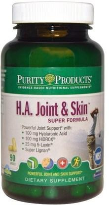 Purity Products, H.A. Joint & Skin, Super Formula, 90 Capsules ,الصحة، المرأة، هيالورونيك، جلد