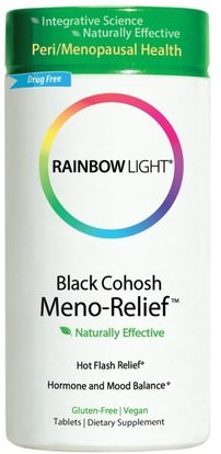 Rainbow Light, Black Cohosh Meno-Relief, 60 Tablets ,الصحة، المرأة