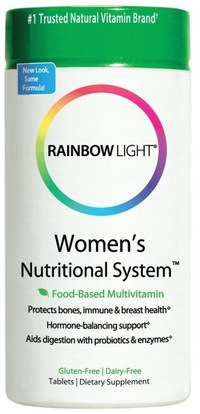 Rainbow Light, Womens Nutritional System, Food-Based Multivitamin, 180 Tablets ,الصحة، المرأة