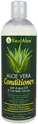 Real Aloe Inc., Aloe Vera Conditioner, 16 fl oz (473 ml) ,حمام، الجمال، الشعر، فروة الرأس، مكيفات