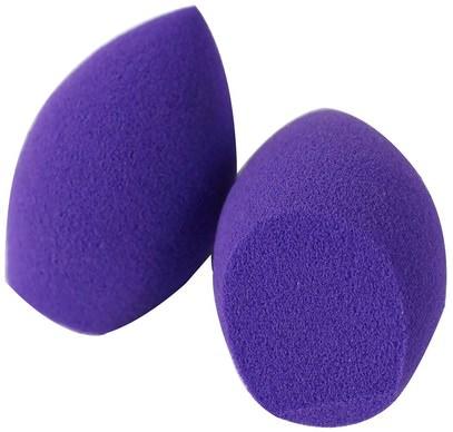 Real Techniques by Samantha Chapman, Limited Edition, 2 Miracle Mini Eraser Sponges, Purple, 2 Sponges ,حمام، الجمال، أدوات ماكياج، فرش الماكياج