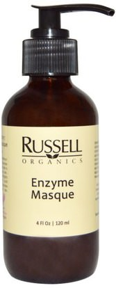 Russell Organics, Enzyme Masque, 4 fl oz (120 ml) ,الجمال، أقنعة الوجه