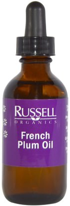 Russell Organics, French Plum Oil, 2 fl oz (60 ml) ,الصحة، الجلد، حمام، زيوت التجميل، زيوت العناية بالجسم