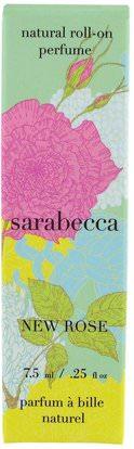 Sarabecca, Natural Roll-On Perfume, New Rose.25 fl oz (7.5 ml) ,حمام، الجمال