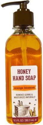 Savannah Bee Company Inc, Honey Hand Soap, Orange Blossom, 9.5 fl oz (280.9 ml) ,حمام، الجمال، الصابون
