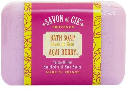 Savon et Cie, Bath Soap, Acai Berry, 7 oz (200 g) ,حمام، الجمال، الصابون