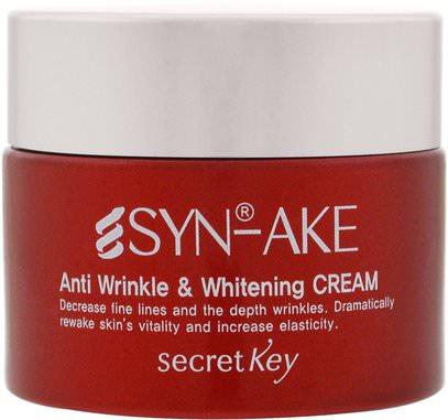Secret Key, Anti Wrinkle & Whitening Cream, 1.76 ml (50 g) ,الجمال، العناية بالوجه، الكريمات المستحضرات، الأمصال، كريمات التجاعيد