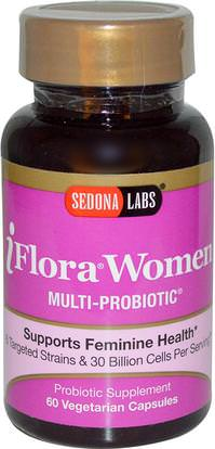 Sedona Labs, iFlora Women, Multi-Probiotic, 60 Veggie Caps ,الصحة، المرأة، المكملات الغذائية، البروبيوتيك