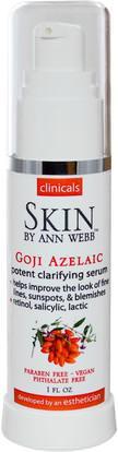 Skin By Ann Webb, Clinicals, Goji Azelaic Potent Clarifying Serum, 1 fl oz ,الصحة، مصل الجلد، الجمال، العناية بالوجه، حمض الآزليك