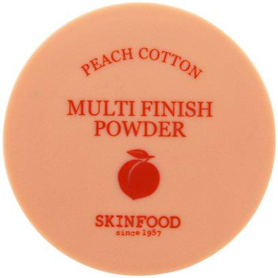 Skinfood, Multi Finish Powder, Peach Cotton, 15 g ,حمام، الجمال، ماكياج