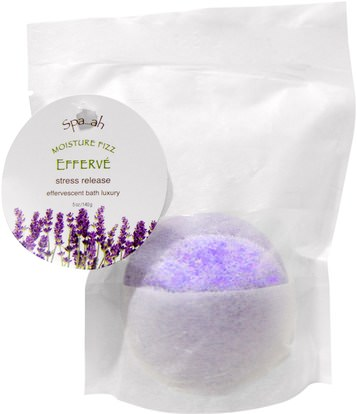 Smith & Vandiver, Spa.ah, Moisture Fizz, Lavender Bergamot, 5 oz (140 g) ,حمام، الجمال، أملاح الاستحمام