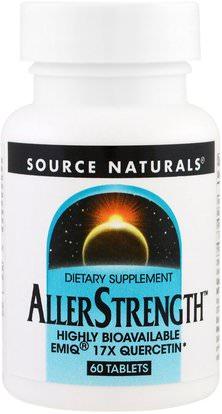 Source Naturals, AllerStrength, 60 Tablets ,والصحة، والحساسية، والحساسية