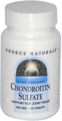 Source Naturals, Chondroitin Sulfate, 400 mg, 60 Tablets ,المكملات الغذائية، منتجات الأبقار، شوندروتن