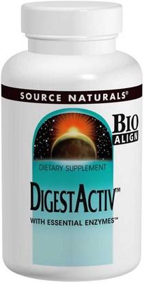 Source Naturals, DigestActiv, 120 Capsules ,والمكملات الغذائية، والإنزيمات الهاضمة