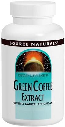 Source Naturals, Green Coffee Extract, 500 mg, 60 Tablets ,والمكملات الغذائية، ومضادات الأكسدة، واستخراج حبوب البن الخضراء