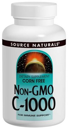 Source Naturals, Non-GMO C-1000, 240 Tablets ,الفيتامينات، وفيتامين ج، وفيتامين ج حمض الاسكوربيك