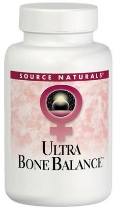 Source Naturals, Ultra Bone Balance, 120 Tablets ,والصحة، والعظم، وهشاشة العظام، والنساء