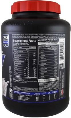 رياضات ALLMAX Nutrition, AllWhey Classic, 100% Whey Protein, Unflavored, 5 lbs. (2.27 kg)