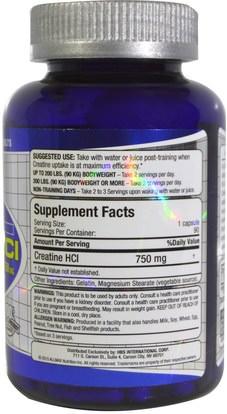 الرياضة، الكرياتين ALLMAX Nutrition, 100% Pure Creatine HCI, 60% Greater Creatine Absorption, 750 mg, 90 Capsules
