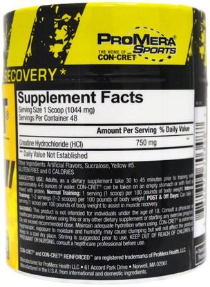 والرياضة، ومسحوق الكرياتين، والرياضة Con-Cret, Creatine HCl, Micro Dosing, Pineapple, 1.78 oz (50.5 g)