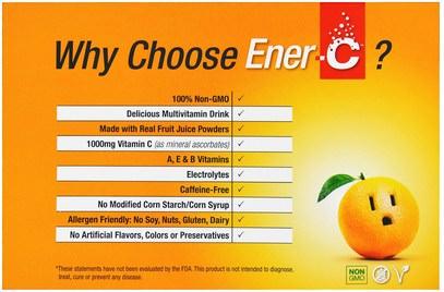 والرياضة، والكهرباء بالكهرباء شرب التجديد، وفيتامين ج Ener-C, Vitamin C, Effervescent Powdered Drink Mix, Variety Pack, 6 Packets