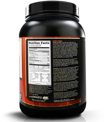 رياضات Optimum Nutrition, Gold Standard, 100% Whey, Birthday Cake, 2 lb (907 g)