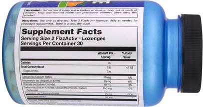 والرياضة، والرياضة، بالكهرباء شرب التجديد Natural Sport, Electrolyte Lozenge, Tangerine Flavor, 60 FizzActiv Lozenges