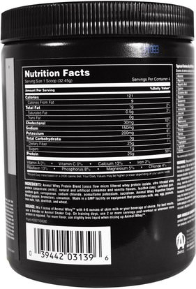 والرياضة، والرياضة، والعضلات Universal Nutrition, Animal Whey, Muscle Food, Frosted Cinnamon Bun, 129.8 g