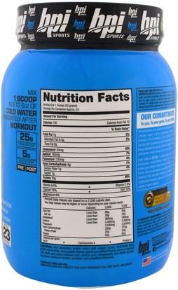والرياضة، والرياضة، والبروتين، بروتين الرياضة BPI Sports, ISO HD, 100% Whey Protein Isolate & Hydrolysate, Peanut Butter Candy Bar, 1.8 lbs (816 g)