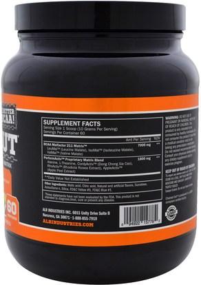 والرياضة، والمكملات الغذائية، بكا (متفرعة سلسلة الأحماض الأمينية) ALR Industries, ChainD Out BCAA Matrix, Appletini, 21.16 oz (600 g)