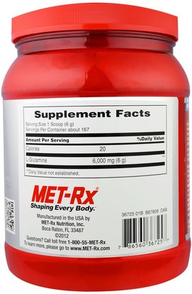 والرياضة، والمكملات الغذائية، ل الجلوتامين MET-Rx, L-Glutamine Powder, 35.28 oz (1000 g)