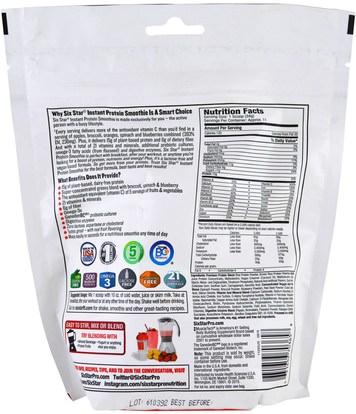 والرياضة، والمكملات الغذائية، والبروتين Six Star, Instant Protein Smoothie, Mixed Berry, 0.78 lbs (352 g)