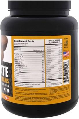 والرياضة، والمكملات الغذائية، بروتين مصل اللبن Eat the Bear, Bare Isolate, Whey Pure Protein Isolate, Chocolate Peanut Butter, 2 lbs (908 g)