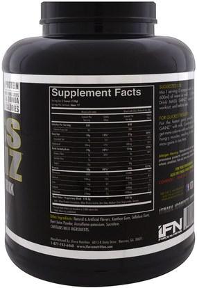 والرياضة، والمكملات الغذائية، بروتين مصل اللبن iForce Nutrition, Mass Gainz Protein Matrix, Strawberry Creamsicle, 4.85 lbs (2.2 kg)