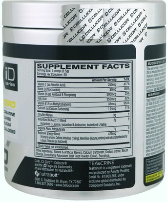 والرياضة، تجريب Cellucor, C4 Zero, Pre-Workout, Pink Lemonade, 9.0 oz (255 g)