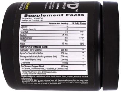 الرياضة، تجريب، أكسيد النيتريك Betancourt, PumpD, Citrus Punch, 7.4 oz (210 g)
