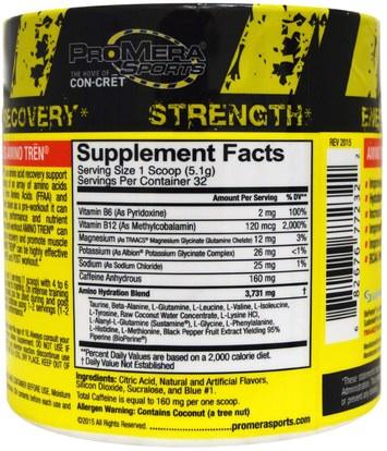 الرياضة، تجريب، الرياضة Con-Cret, Amino Tren, Energy and Recovery Support, Blue Raspberry, 5.8 oz (164 g)