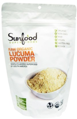 Sunfood, Raw Organic Lucuma Powder, 8 oz (227 g) ,المكملات الغذائية، سوبرفوودس