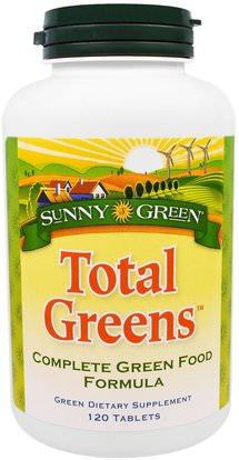 Sunny Green, Total Greens, 120 Tablets ,المكملات الغذائية، سوبرفوودس، الخضر