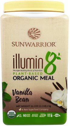 Sunwarrior, Illumin 8, Plant-Based Organic Meal, Vanilla Bean, 35.2 oz (2.2 lb) ,Herb-sa