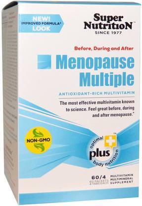 Super Nutrition, Before, During and After Menopause Multiple, Antioxidant-Rich Multivitamin, 60 Packets, (4 Tablets) Each ,الفيتامينات، الفيتامينات