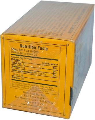 المكملات الغذائية، أدابتوغين، الانفلونزا الباردة والفيروسية، الجينسنغ الأمريكية Triple Leaf Tea, American Ginseng, Caffeine-Free, 20 Tea Bags, 1.4 oz (40 g)