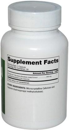 المكملات الغذائية، أدابتوغن Dr. Mercola, Rhodiola Extract, 340 mg, 30 Capsules